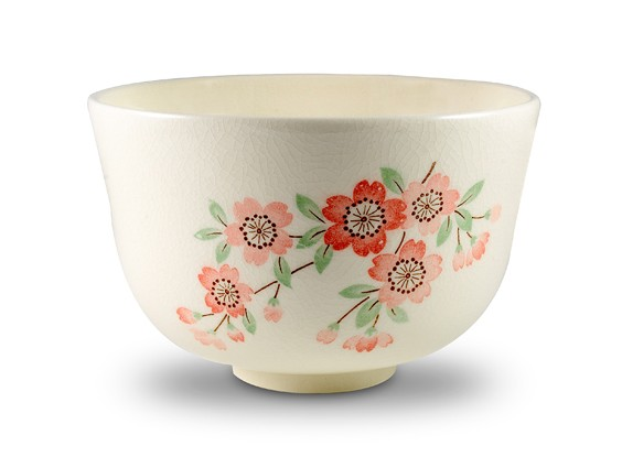 Matcha Bowl with Cherry Blossom Motif – SOLD OUT