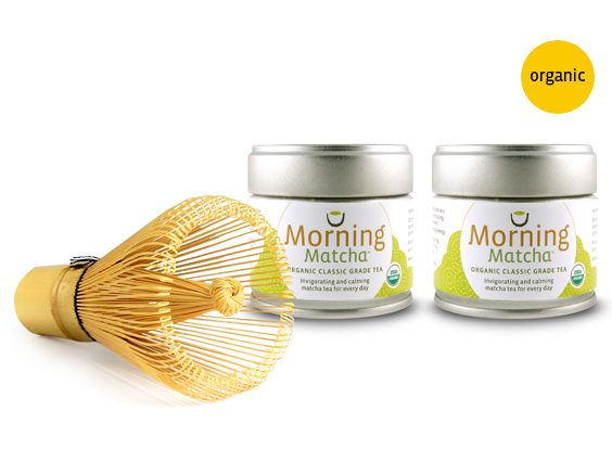 Whisk Away Morning Bundle with organic matcha tea