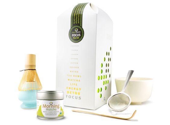 FOCUS Tea Gift Set – Complete Matcha Gift Set with Choice of Tea