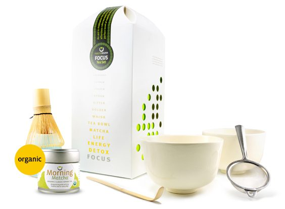 FOCUS Tea Gift Set – Complete Matcha Gift Set with 2 Bowls and Choice of Tea