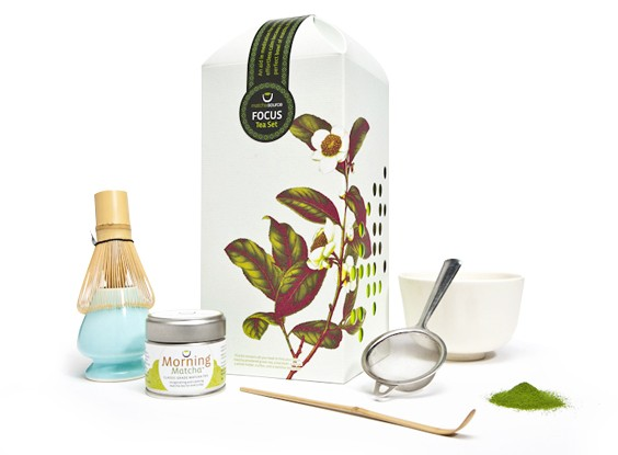 Matcha FOCUS Tea Set – With 1 Cherry Blossom Tea Bowl – SOLD OUT
