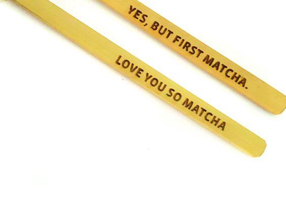 Bamboo Tea Scoop – First, Matcha/Love You So Matcha