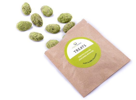 Matcha Covered Chocolate Almonds by EOS Chocolates 25g