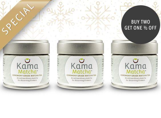 Buy 2, Get 1 1/2 Off – Kama Ceremony Grade Matcha Tea