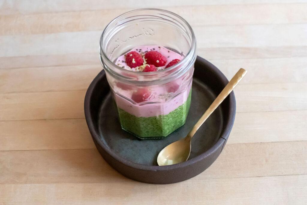 Matcha Raspberry Parfait by Matcha Source